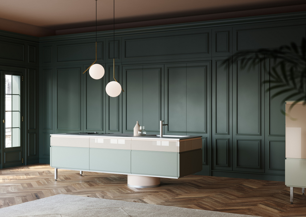 Boiserie panels in a modern interior.  Source: wwts.it