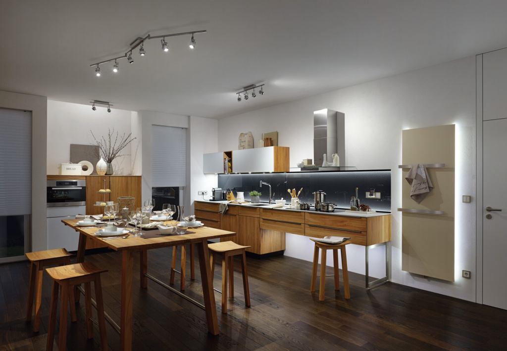 Track systems create cozy lighting while saving space