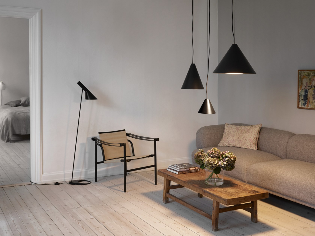 Lighting fixtures from the Keglen collection of the Danish company LouisPoulsen