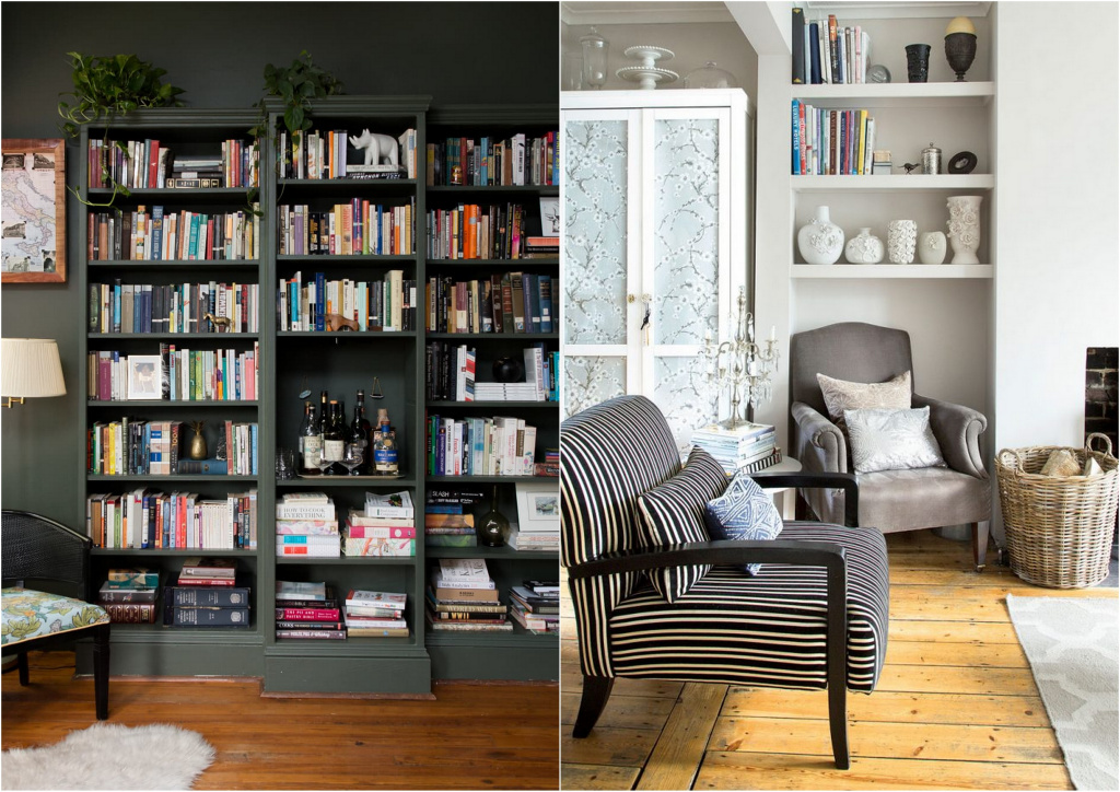 If there are no niches for shelves, you can integrate the rack into the interior by painting it in the color of the wall.  Sources: apartmenttherapy.com, pinterest.ru