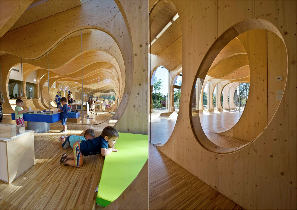 Eco-friendly kindergarten in Italy by Mario Cucinella Architects.  Source: archdaily.com