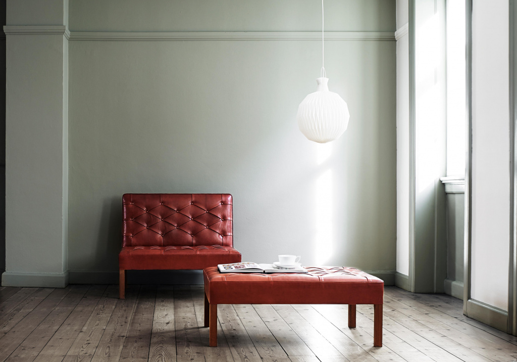 Furniture and lamp, Kaare Klint.  Source: architonic.com