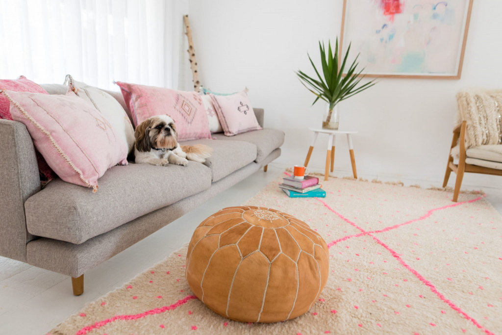 Moroccan leather ottomans do not give up their positions in interiors for more than a decade.  Source: lovemoroccanrugs.com.au