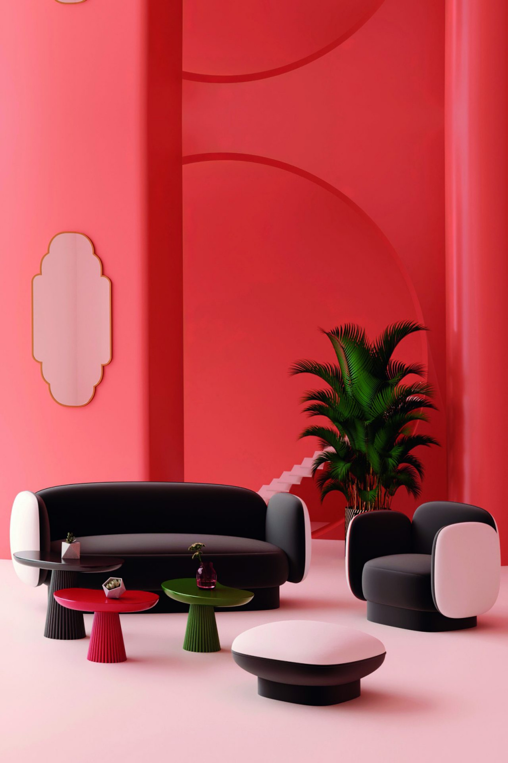 The pouf from the latest DADA Maison collection accentuates the brand's commitment to everything unusual.  Source: maisondada.com
