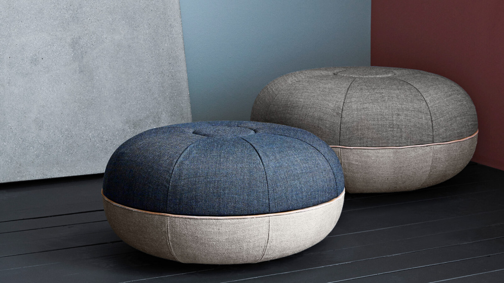 The pouf, designed by Cecile Manz for Fritz Hansen, has become one of the brand's bestsellers.  Source: fritzhansen.com