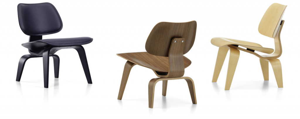 Chairs from the DCW collection (Dining Chair Wood), Vitra.  Designed by Charles and Ray Eames