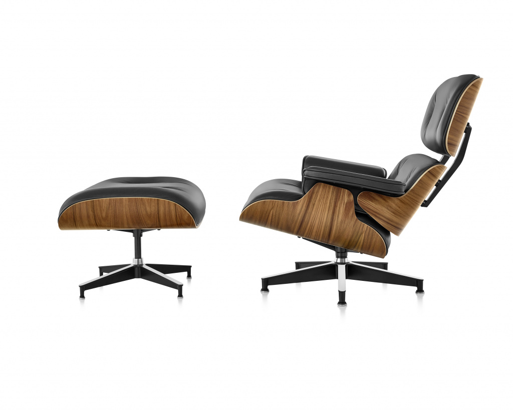 Eames Style Lounge Chair & Ottoman.  Designed by Chalz and Ray Eames, produced by Vitra