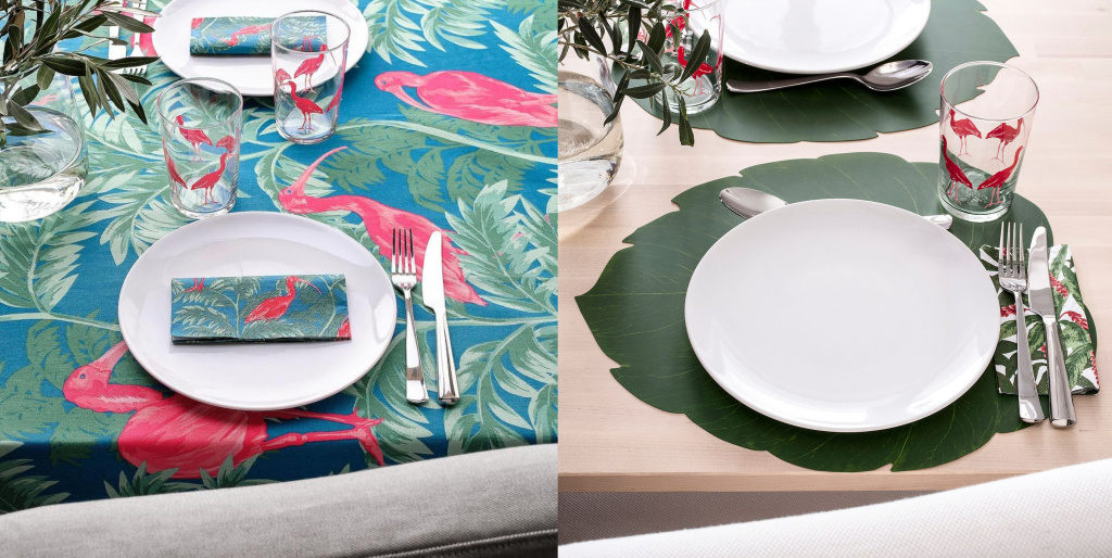 Crockery and table textiles from the new collection SOMMARLIV from Ikea