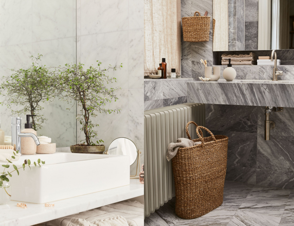 Bathroom accessories from the H&M Home range
