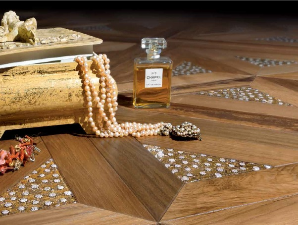 Modular parquet from the Le murrine collection by Garbelotto