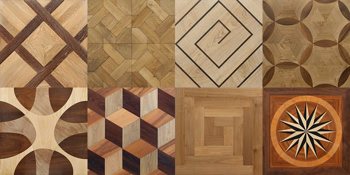 Examples of parquet modules from Bohemian Works