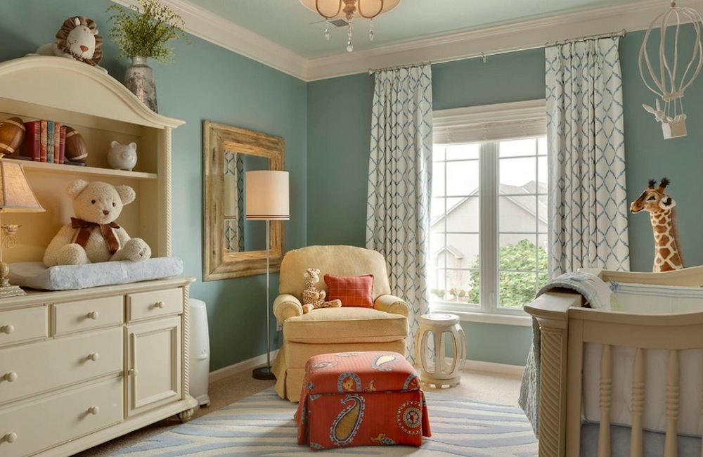 Split complimentary color schemes are often quieter versions of their counterparts.  Photo: McCroskey Interiors