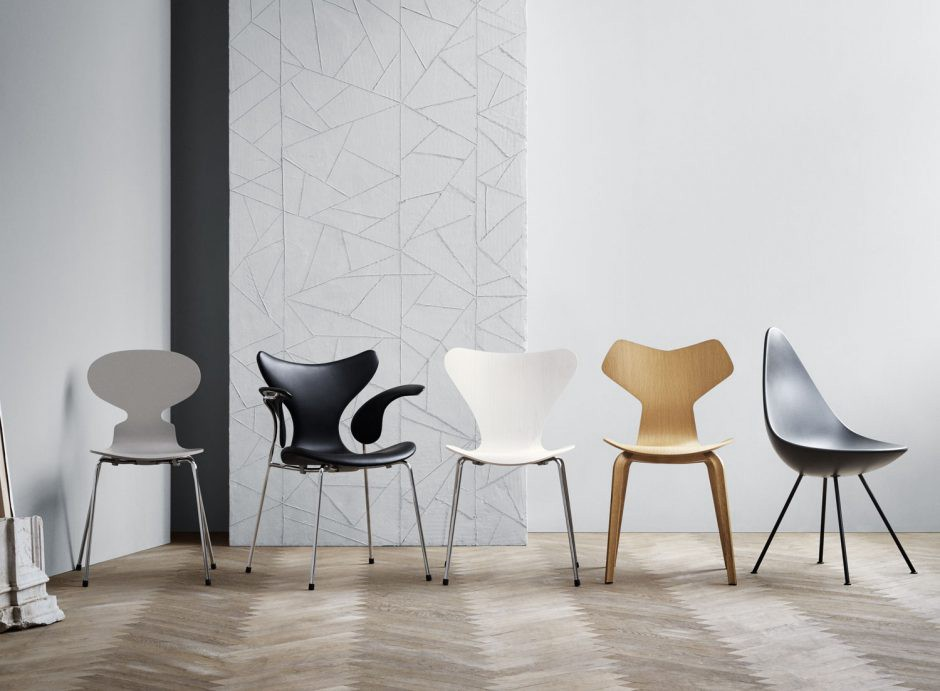 Chairs designed by Arne Jacobsen.  Source: medium.com