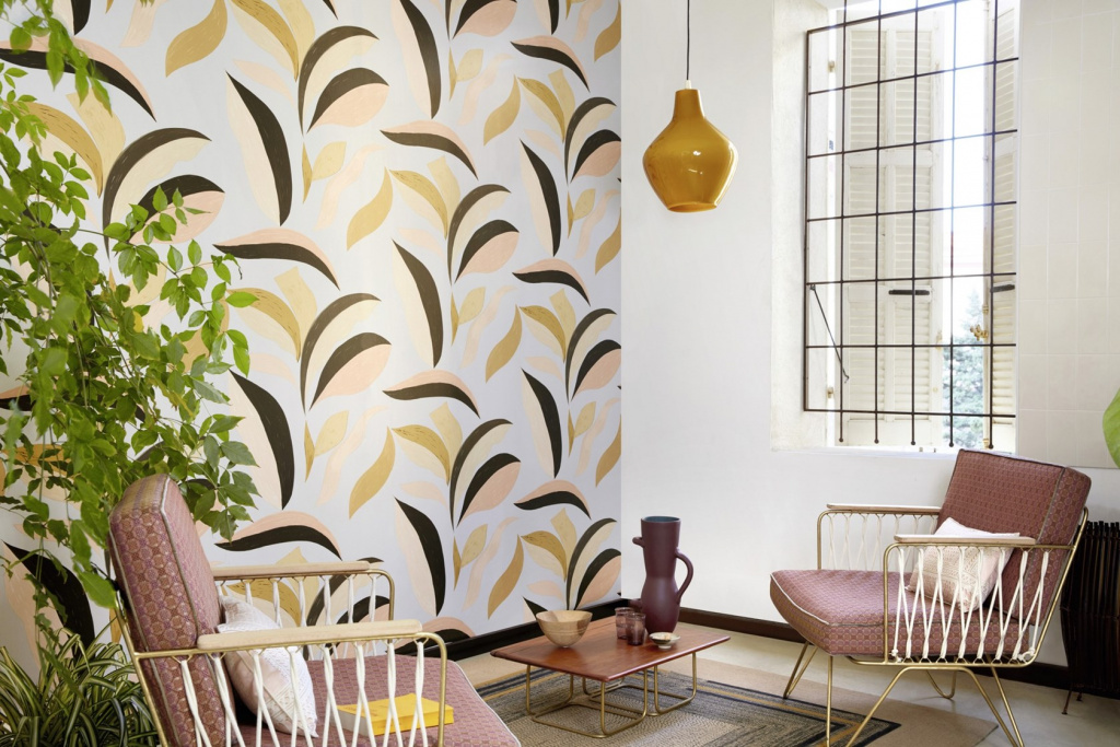 Wallpaper from the NID D'OISEEAU collection by Élitis
