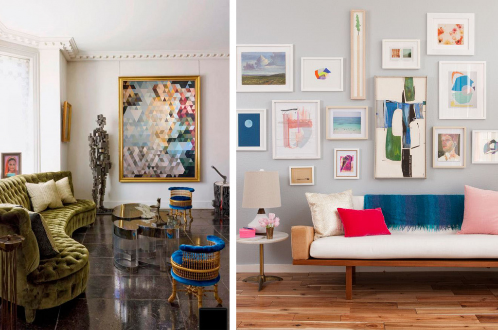 Solo placement example (from the O.ART gallery collection) and gallery style placement example