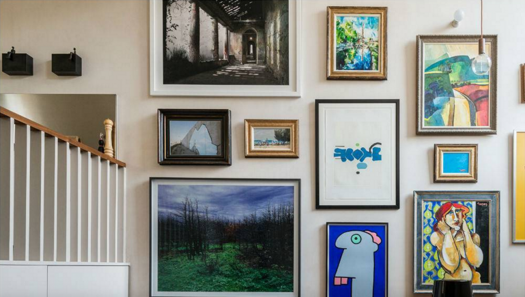 The option of placing several paintings on the wall.  Source: simplemost.com
